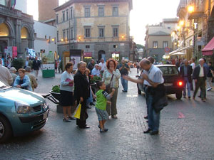 Takin time to talk in Orvieto