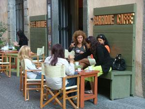 Enjoying coffe in Orvieto, Italy