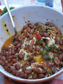 The traditional bean and egg dish