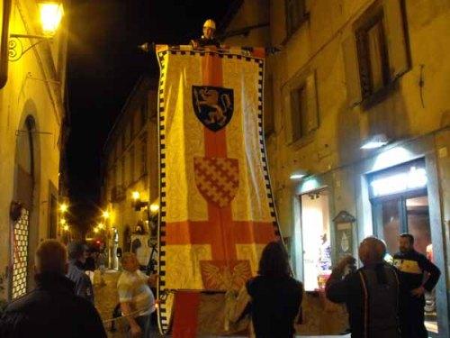 Raising a banner